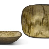 12. a pair of staffordshire slipware baking dishes, 18th century |