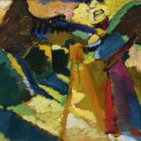 12. 瓦西里·康丁斯基 | 《在戶外畫架前作畫的加布莉爾·明特》