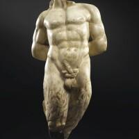 9. a roman marble torso of pan, circa 2nd century a.d.