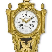 2503. french | a gilt brass louis xvi-style striking cartel clockcirca 1880