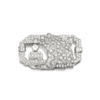 116. diamond brooch, circa 1930