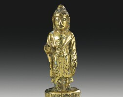 46. a korean gilt-bronze figure of buddha unified silla dynasty, 8th century