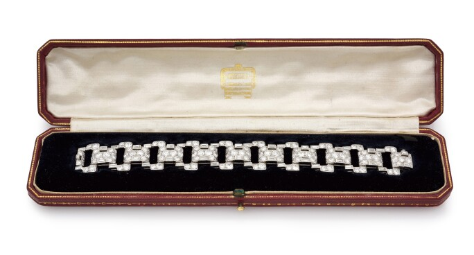 DIAMOND BRACELET, CARTIER, 1932. ESTIMATE: €40,000–60,000