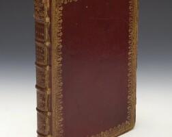 56. caesar, commentarii, venice, jenson, 1471, eighteenth-century harleian-style red morocco gilt, suchtelen copy