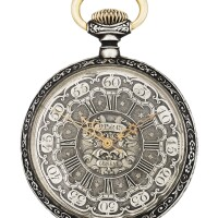 193. 百達翡麗(patek philippe) | 銀製聖喬治屠龍浮雕懷錶,1884年製。