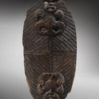 12. couvercle de boîte à trésor, maori, nouvelle-zélande |