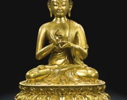 46. a gilt-bronze figure of buddha dipankara qing dynasty, 17th/18th century