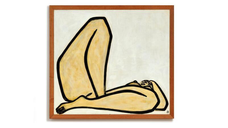 常玉最後鉅作《曲腿裸女》