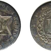 11. three-cent piece, silver, 1859, ngc ms 65 cac
