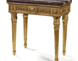 29. an italian neoclassical carved giltwood console, rome, late 18th/early 19th century |