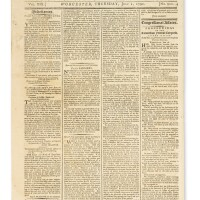 2. address from the hebrew congregation of … savannah … to the president of the united states: printed in thomas' massachusetts spy: or, the worcester gazette, worcester: july 1, 1790