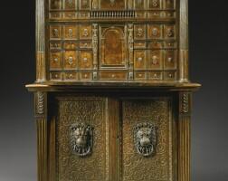12. an italian renaissance ebony inlaid parcel-gilt and walnutsecrétaire cabinet, mantua or ferrara mid 16th century