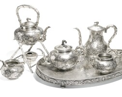 335. an export silver tea set qing dynasty, 19th century