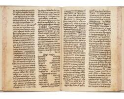 7. three volumes of midrash ha-gadol, david ben amram adani, yemen: [15th–16th c.], and 1614