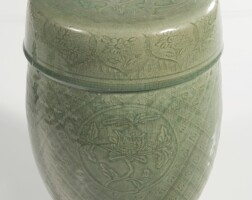1225Y. a chinese celadon-glazed garden seat ming dynasty