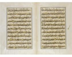 11. a bifolium from a large ottoman qur'an, turkey, 16th century