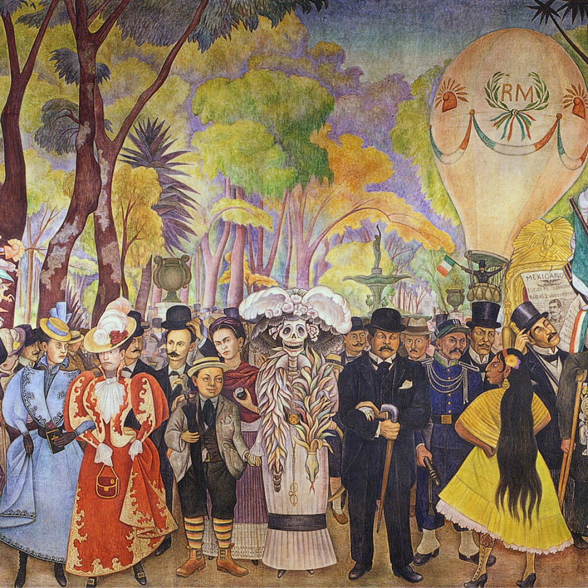 Diego Rivera's Dream of a Sunday Afternoon, a Surrealist Tableau of Mexican History