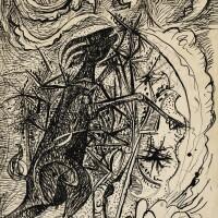 109. john craxton, r.a.   rampant goat in thorn tree