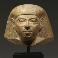 5. an egyptian limestone head of a man, 18th dynasty, probably period of tuthmosis iii, 1479-1426 b.c.