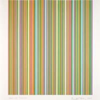 127. bridget riley   green with turquoise
