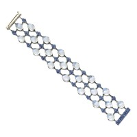 50. moonstone and sapphire bracelet, tiffany & co., designed by louis comfort tiffany