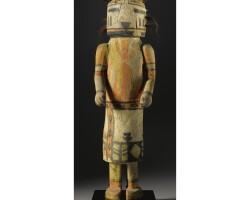 6. a large hopi polychrome wood kachina doll, depicting umtoinaqa