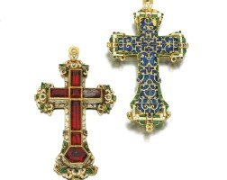 3. gold, enamel and paste pectoral cross, 16th century