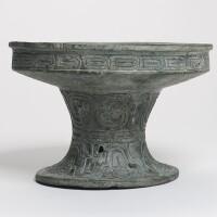 157. a bronze ritual food vessel (pu) late western zhou dynasty, 9th / 8th century bc
