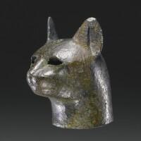 12. an egyptian bronze head of a cat, 21st/26th dynasty, 1075-525 b.c.