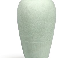 8. a very rare longquan celadon carved 'peony' meiping northern song dynasty
