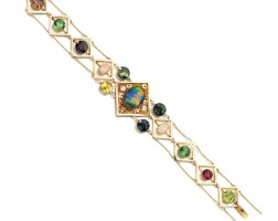 3. opal and gem set bracelet, percy marks, early 20th century
