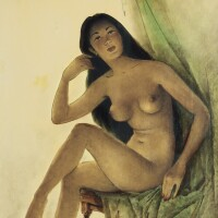423. 李曼峰 | 裸女坐像