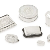 11. a group of silver vinaigrettes and small boxes, 18th/mid-19th century