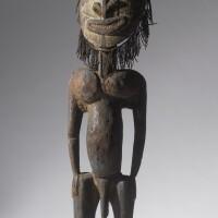 207. iatmul male figure, middle sepik river, papua new guinea