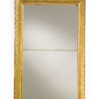 155. a gustav iv swedish neoclassical parcel-gilt andpolychrome-painted mirror late 18th century