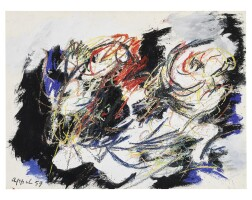 12. karel appel (1921 - 2006) | paysage humaine, 1959