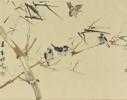 739. chen wenxi sparrows in bamboo
