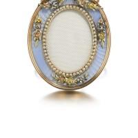 343. a fabergé jewelled gold and enamel frame, workmaster johan victor aarne, st petersburg, 1899-1904