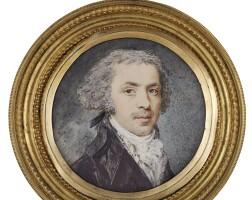 314. augustin ritt | portrait of a gentleman, circa 1795