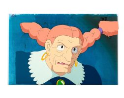 1030. castle in the sky by studio ghibli   captain dola animation cel