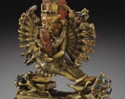 120. 十七/十八世紀 藏傳銅大威德金剛坐像