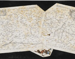 11. an italian scagliola trompe l'oeil table top depicting maps of the middle east from gerhard mercator's latin edition of ptolemy's geographia, dated 1584, of asiae iiii and vand the cartouche from frederick de wit's map of persia (circa1660), possibly tuscan and by carlo gibertoni (1635-1696) late 17th century