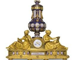7. a gilt-bronzeand sèvres-style porcelain mantel clock, french, circa 1880