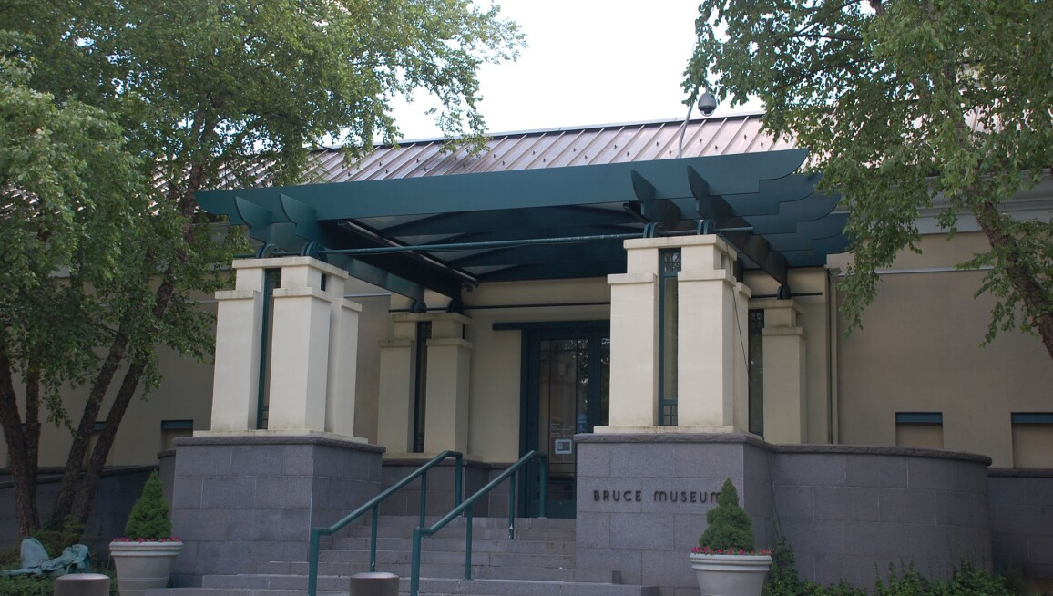 Exterior of the Bruce Museum