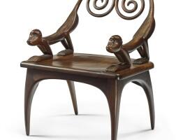 "66. judy kensley mckie | ""monkey"" armchair"
