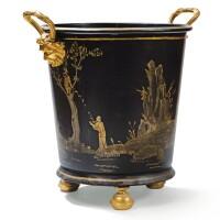 11. a modern painted metal and gilt-bronze orange tree holder |