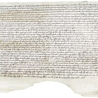 45. large document of the bishop of arras, in latin, france (arras), dated march 1255