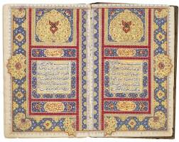44. an illuminated qur'an, persia, qajar, first half 19th century  
