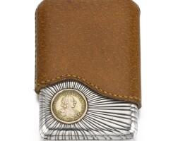 330. a fabergé silver cigarette case, workmaster anders (antii) nevalainen, st petersburg, 1899-1904
