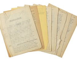 """325. williams, tennessee. typescript with numerous additions, emendations, and deletions in pencil, of his short story """"three players of a summer game"""""""